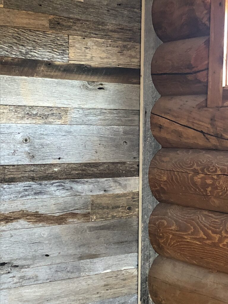 log cabin interior image