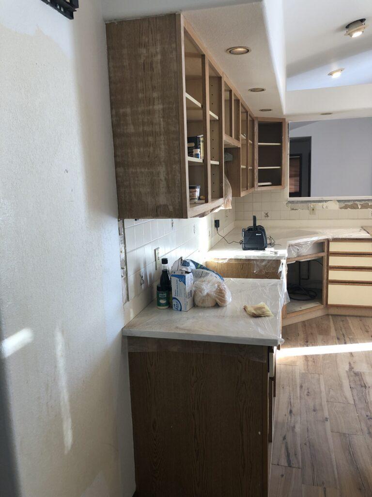 kitchen remodel process image